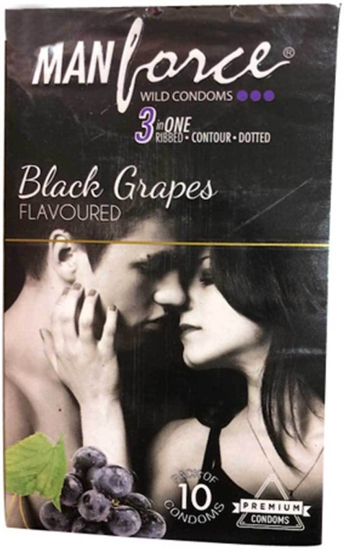 manforce Black Grapes pack of 10) Condom(10S)