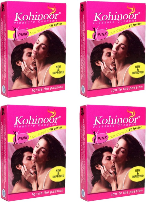 Kohinoor Pink Condom(Set of 4, 40S)