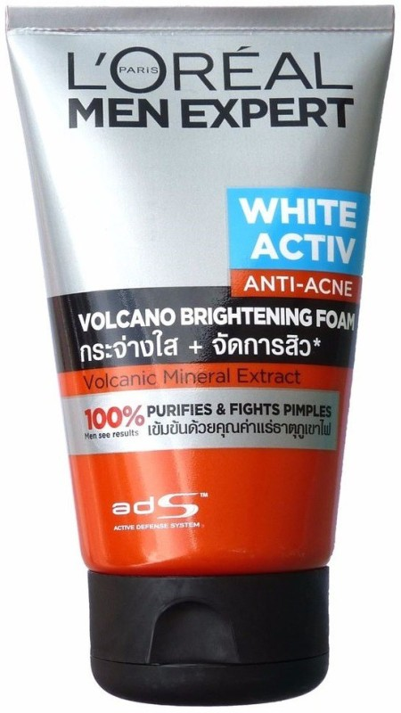 LOreal Men Expert White Activ Anti-Acne Volcano Brightening Foam Face Wash(100 ml)