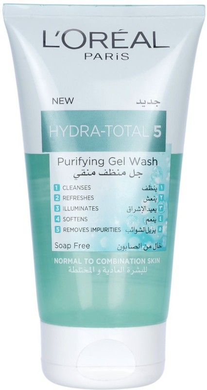 LOreal New Hydra-Total 5 Purifying Gel Wash Face Wash(150 ml)