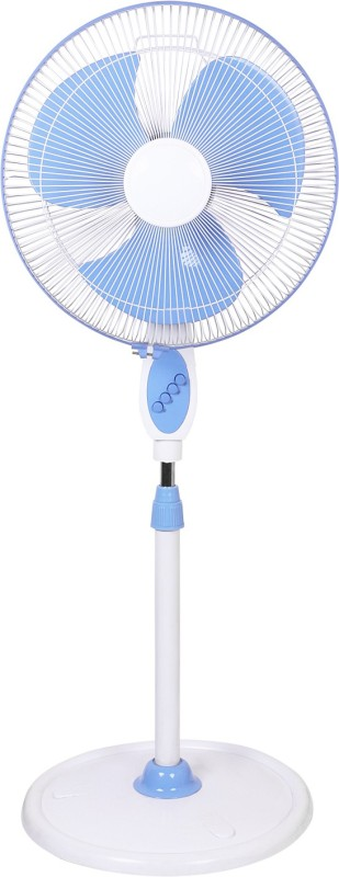 Airtop 16 Pedestal Fan White Blue 3 Blade Pedestal Fan(White, Blue)