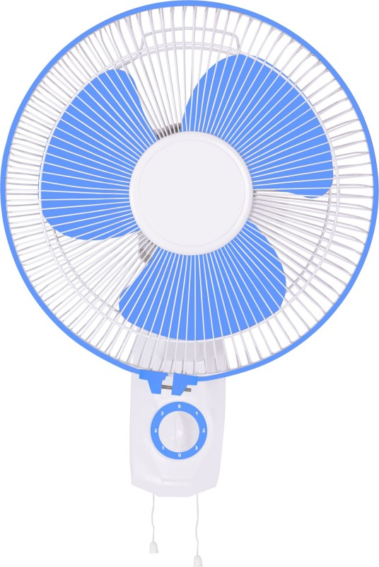 Airtop 12 Wall Fan White Blue 3 Blade Wall Fan(Blue, White)