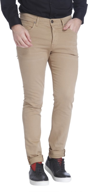 Jack & Jones Slim Fit Mens Beige Trousers