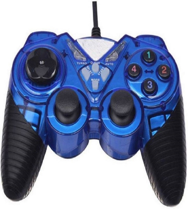 comp gravit 7487-2V Easy Grip On Joysticks Gamepad Gamepad (Blue, For PC)  Joystick(Multicolor, For PC, Mac OS)