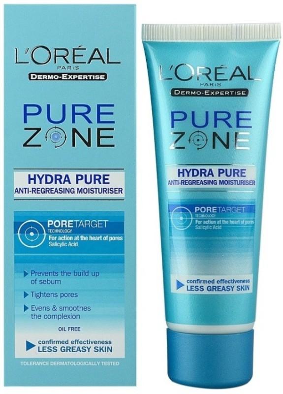 LOreal Pure Zone Hydra Pure Anti-Regreasing Moisturiser (75ml)(75 ml)