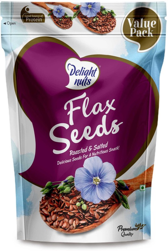 Delight Nuts Flax Seeds Roasted & Salted- 750gm (Value Pack) Assorted Nuts(750 g, Pouch)