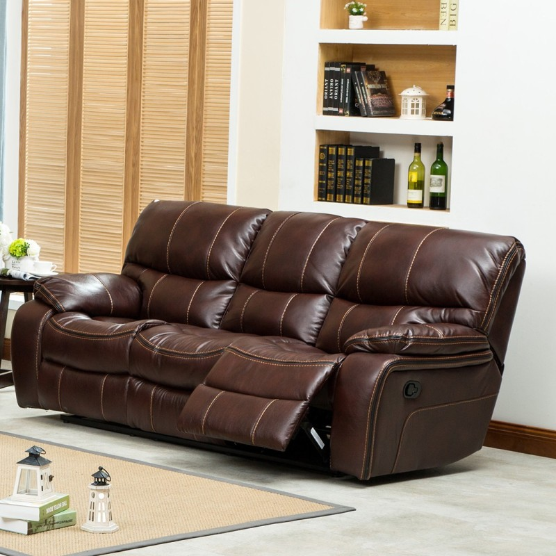 RoyalOak Grand Bonded Leather Manual Recliners(Finish Color - Brown)