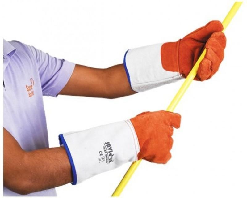 SAVIOUR Welding Gloves 14 Leather Safety Gloves(2)