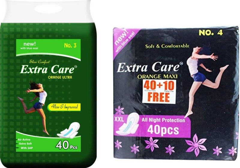 Extra Care XXL Ultra 40 + Maxi 50 Pcs Sanitary Pad(Pack of 90)