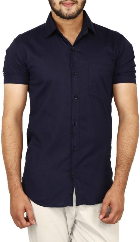 BASE 41 Men's Solid Casual Shirt