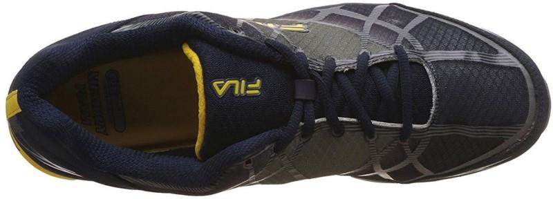 Fila Mens Dimension Track Ene Fila Navy, Monument and Lemon Running Shoes - 11 UK/India (45 EU) Casuals For Men(Grey, Navy)