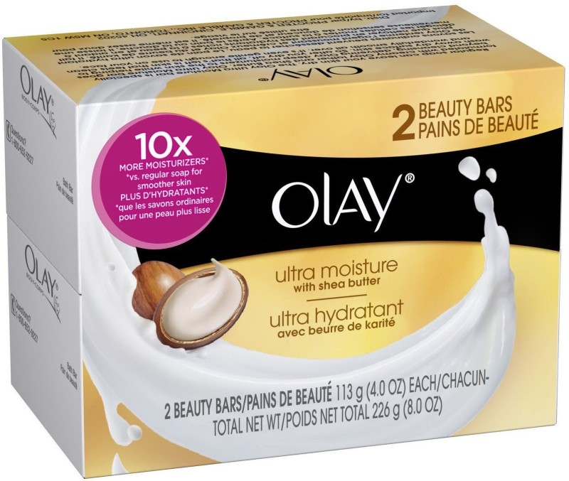 Olay Ultra Moisture With Shea Butter 2 Beauty Bars Soaps (226g)(226 g, Pack of 2)