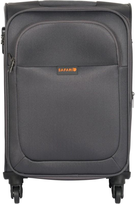 Safari Jazz Spinner 55 cm Soft Trolley (Grey) Expandable Cabin Luggage - 22 inch(Grey)