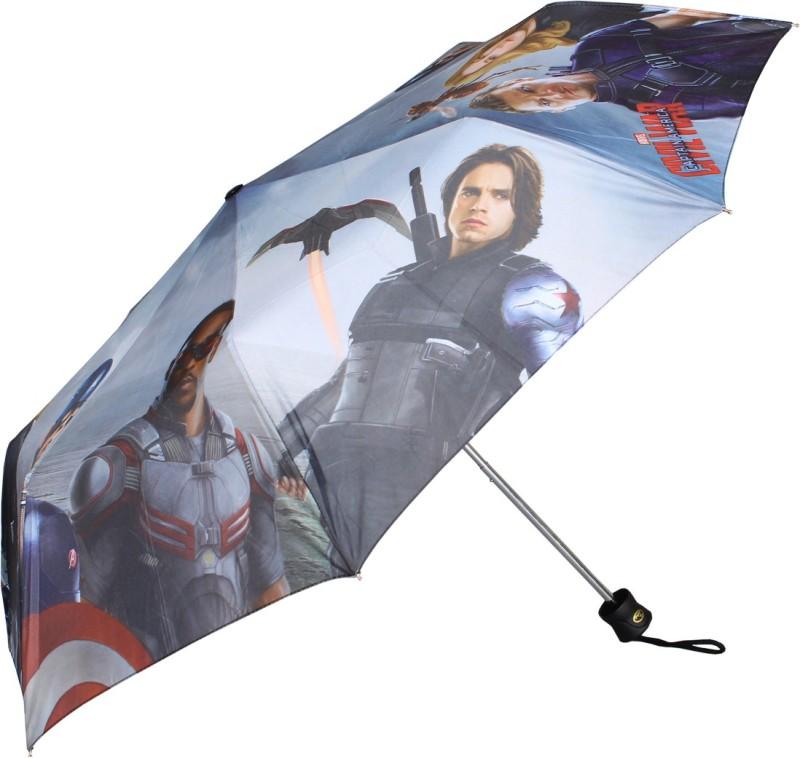 Johns 3 Fold 545mm Printed Avenger Umbrella(Blue)