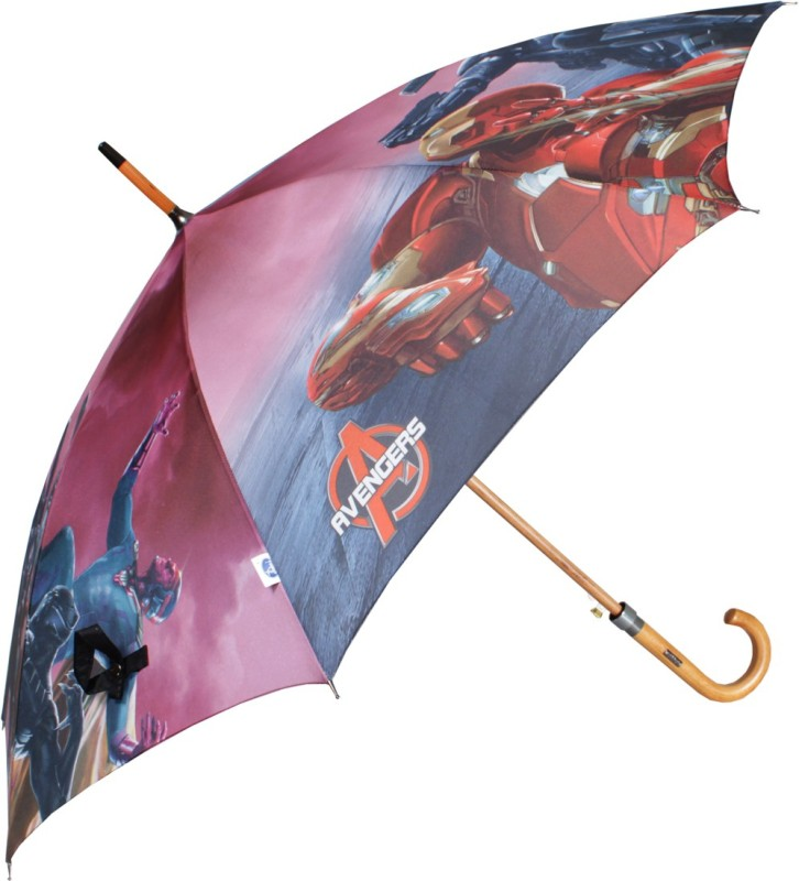 Johns 610mm Woodking Avenger Series-2 Auto Open Red and Blue Umbrella(Red, Blue)