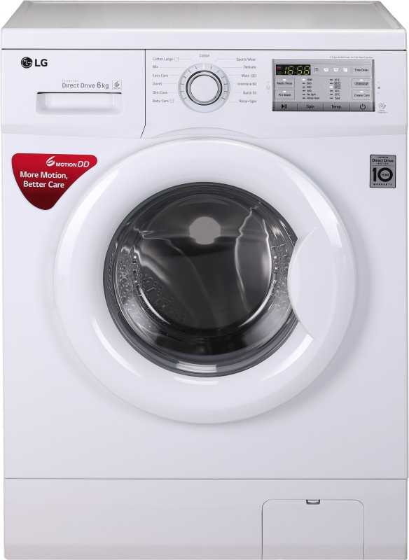 LG 6 kg Fully Automatic Front Load Washing Machine White(FH0FANDNL02)