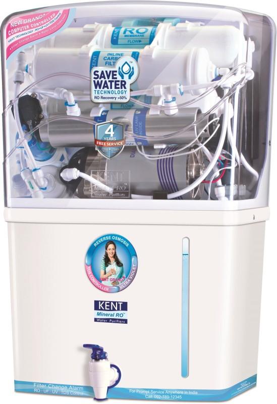 Kent Grand Plus (11001) 8 L RO + UV + UF Water Purifier(White)