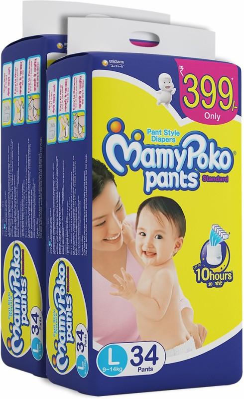 MamyPoko Pants Standard Diapers - L(68 Pieces)