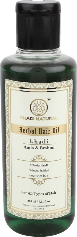 Khadi Natural AYURVEDIC AMLA & BRAHMI HAIR OIL Hair Oil(210 ml)