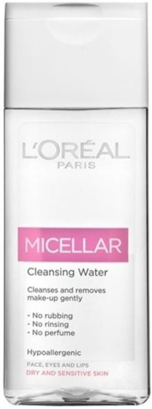 LOreal Micellar Cleansing Water Make-up Remover For Face, Eyes & Lips Makeup Remover(200 ml)