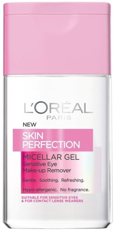 LOreal Skin Perfection Micellar Gel Make-up Remover For Sensitive Eye Makeup Remover(125 ml)
