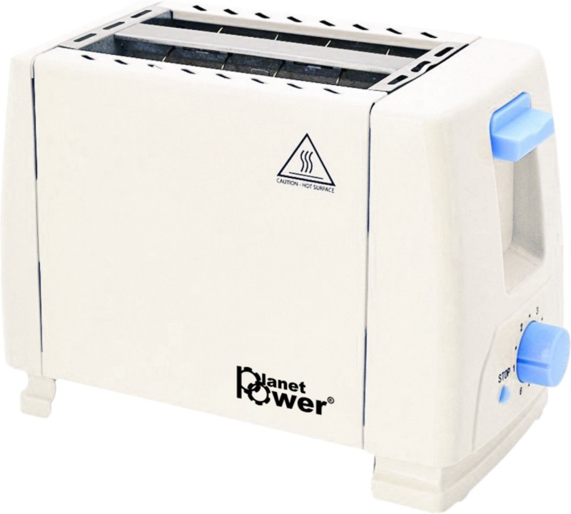 planet power Toaster 4 Slice Sandwich Maker 1300 W Pop Up Toaster(White)