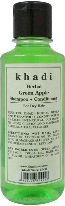 Khadi Herbal Green Apple Shampoo + Conditioner(210 ml)