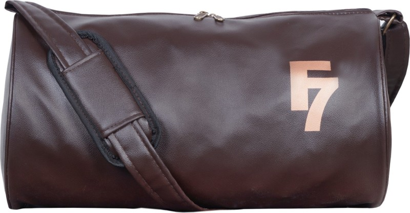 Dee Mannequin Dark Brown Leathrite Gym Bag(Brown, Kit Bag)