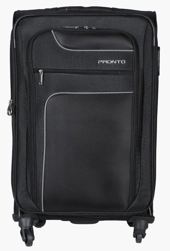 Pronto New Yorker SP Soft Trolley 58 cm (Black) Expandable Cabin Luggage - 22 inch(Black)