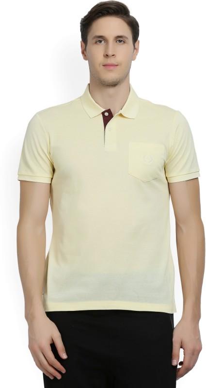 Arrow Sport Woven Mens Polo Neck Yellow T-Shirt