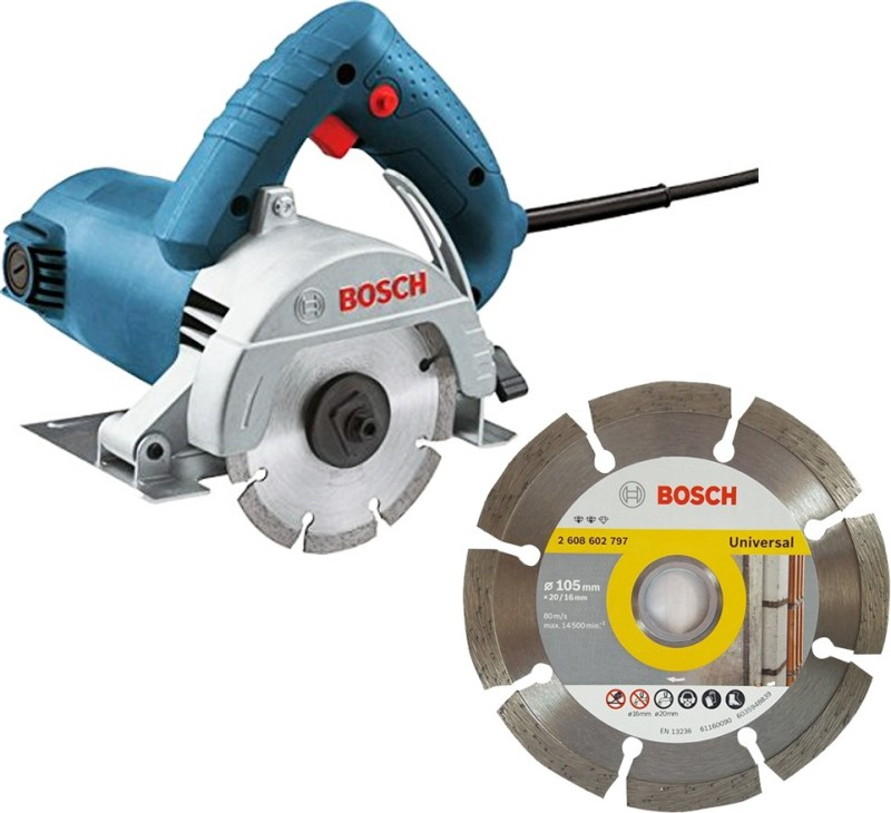 bosch GDC 120 Marble Cutter with 4 inch Diamond Cutting Blade Handheld Tile Cutter(12 W)