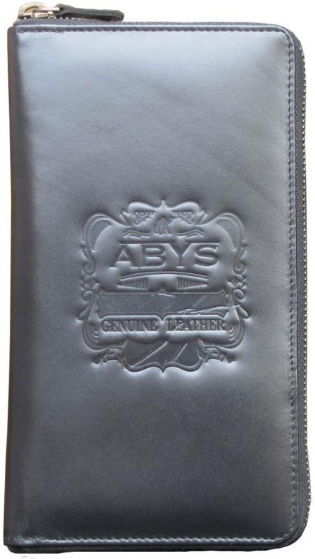 ABYS Premium Quality Leather Travel Document Holder//Passport Holder//Gift Set for Men & Women(Black)