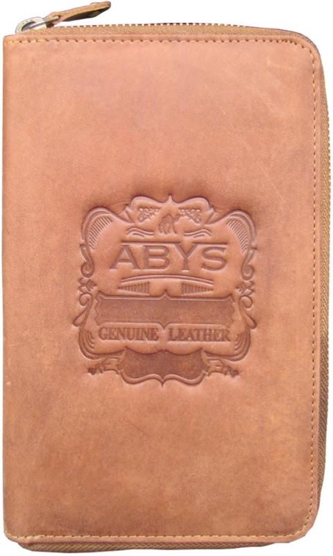 ABYS Premium Quality Leather Passport Case//Mobile Wallet//Gift Set for Men & Women(Tan)
