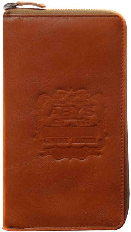 ABYS Premium Quality Leather Travel Document Holder//Passport Holder//Gift Set for Men & Women(Tan)