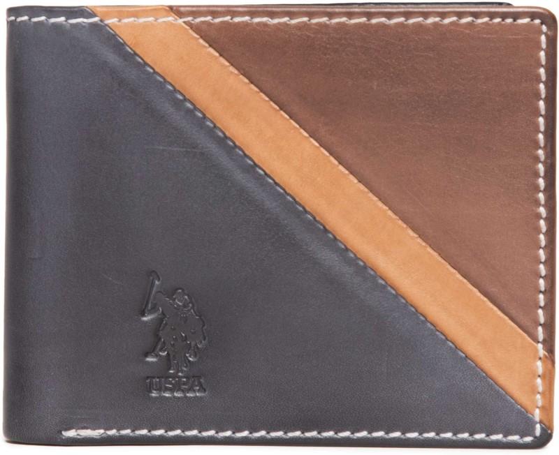 U.S. Polo Assn Men Blue Genuine Leather Wallet(8 Card Slots)