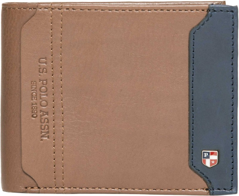 U.S. Polo Assn Men Brown Genuine Leather Wallet(7 Card Slots)