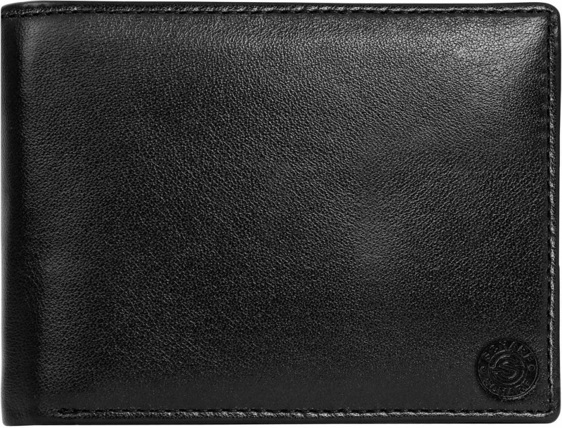 SCHARF Men Black Genuine Leather Wallet(12 Card Slots)