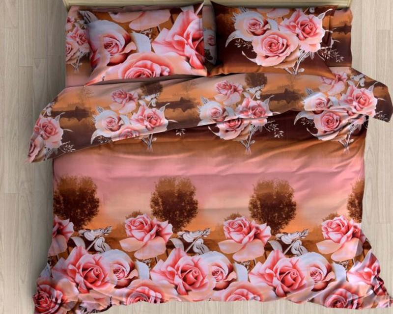 Little Joy 140 TC Polycotton Double Floral Bedsheet(1 Bedsheet, 2 Pillow Covers, Multicolor)