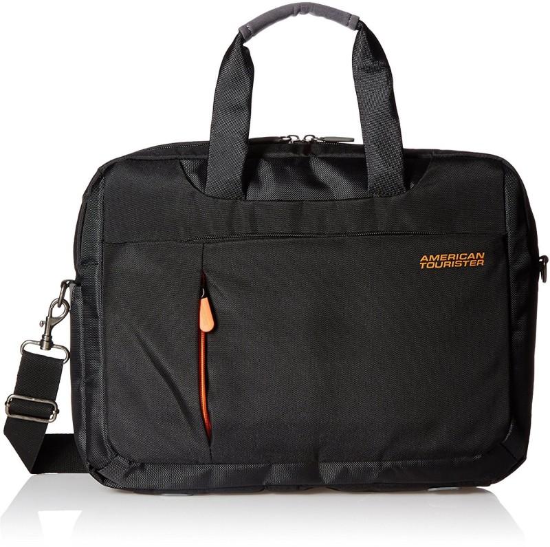American Tourister Activair Polyester 21 Ltrs Black Laptop Backpack (56T (0) 09 008) Medium Briefcase - For Men & Women(Black)