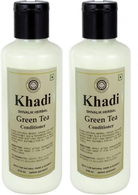 Khadi Herbal Green Tea Hair Conditioner (Twin Pack)(420 ml)