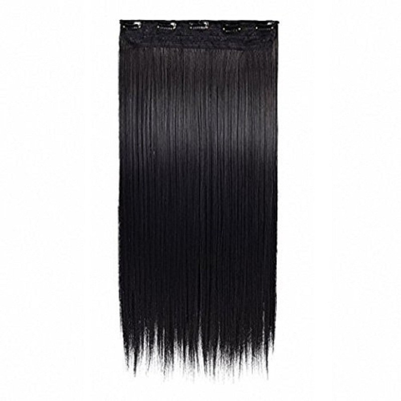 AASA Synthetic Extension For Brides | Straight Extensions For Girls And Women (Black) Hair Extension