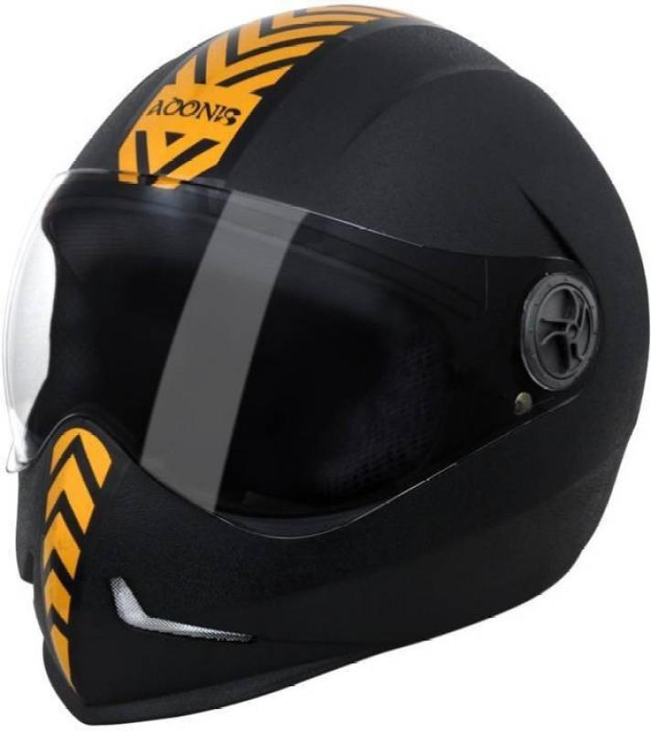 Steelbird Steel birdRK Adonis Dashing Black with Golden Motorbike Helmet(Black with Golden)