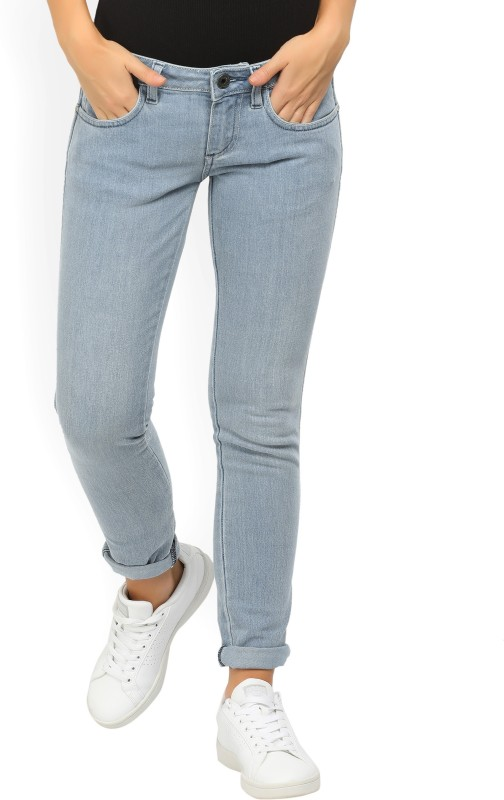 Wrangler Slim Womens Light Blue Jeans