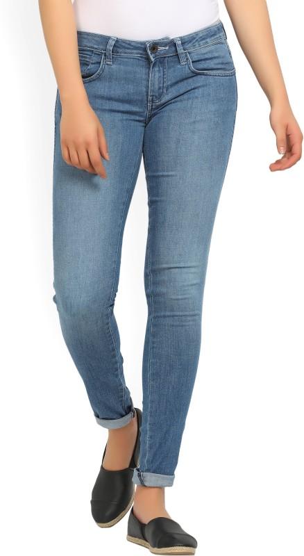 Wrangler Slim Womens Light Blue Jeans