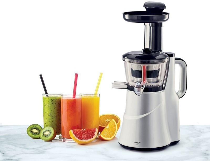 Eveready SLOW JUICER LIIS 150 W Juicer(Silver, Black, 2 Jars)
