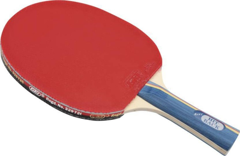 GKI Hitback Red, Black Strung Table Tennis Racquet(NA, Weight - 300 g)