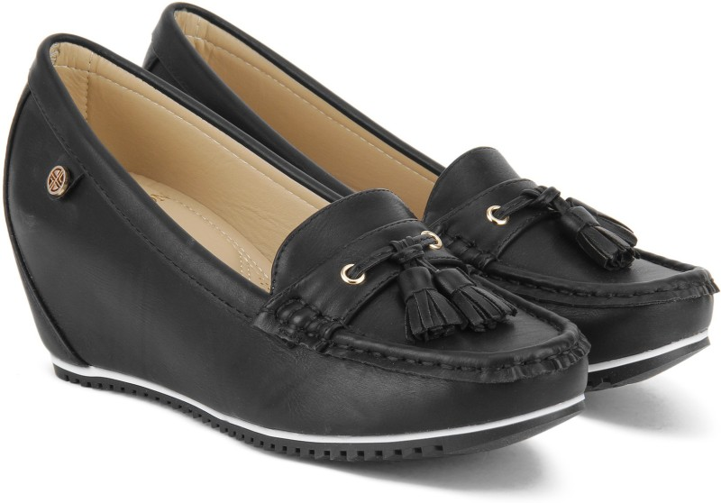 Carlton London CLL-4245 Loafers For Women(Black)