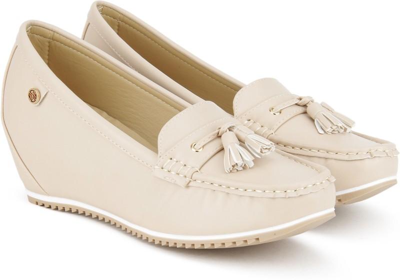 Carlton London CLL-4245 Loafers For Women(Beige)