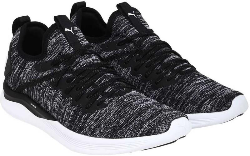 Puma IGNITE Flash evoKNIT Walking Shoes For Men(Black, Grey)