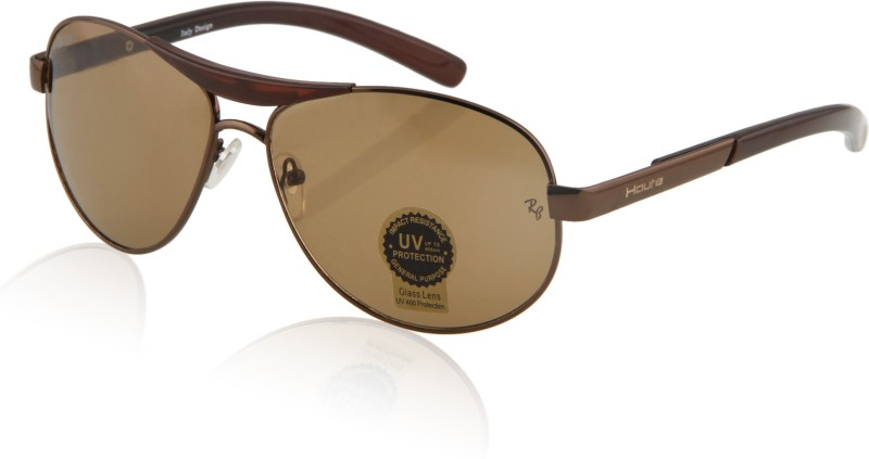 Haute Aviator Sunglasses(Brown) image